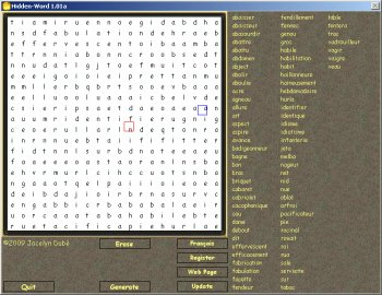 Hidden Word Crossword Maker Game