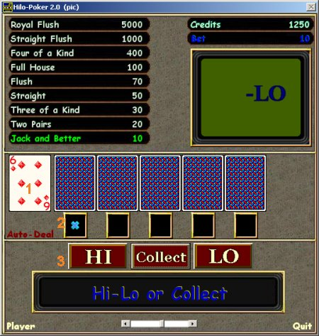 Cribbage.ca online instructions manual - Game Menu
