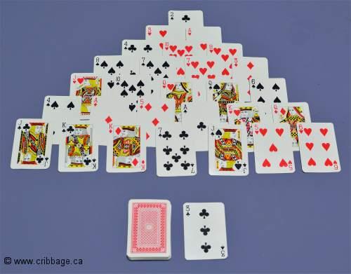 jeu de carte pyramide La pyramide, jeu de solitaire