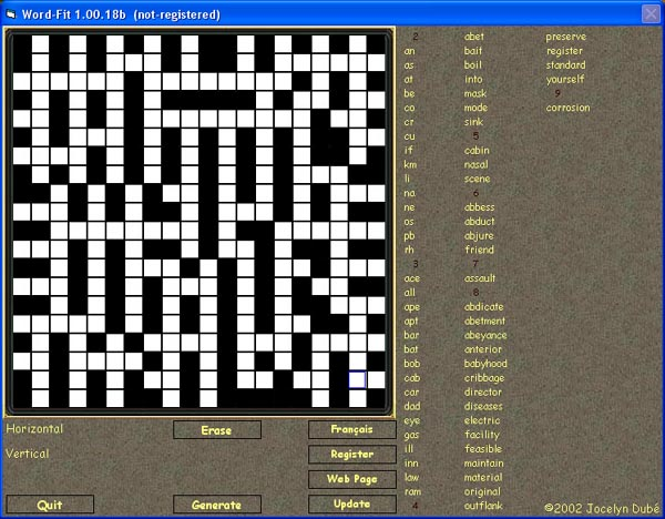 Word-Fit - Word-Fit is a bilingual crossword puzzle game